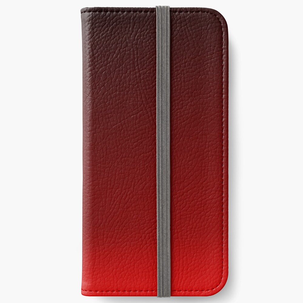 Red Ombre iPhone Wallet