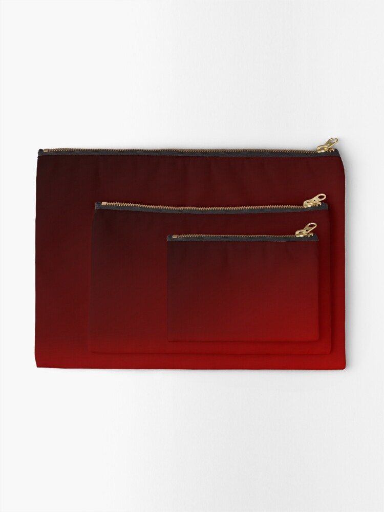 Alternate view of Red Ombre Zipper Pouch