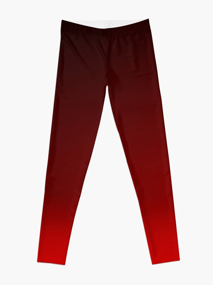 Alternate view of Red Ombre Leggings