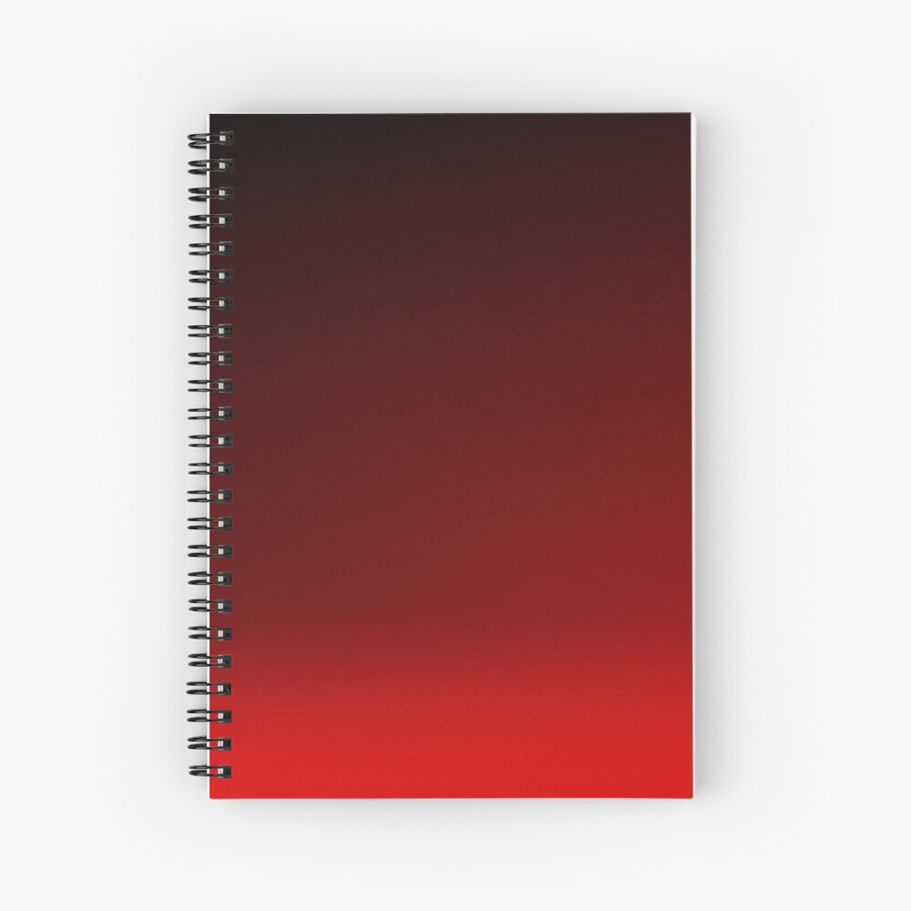 Red Ombre Spiral Notebook