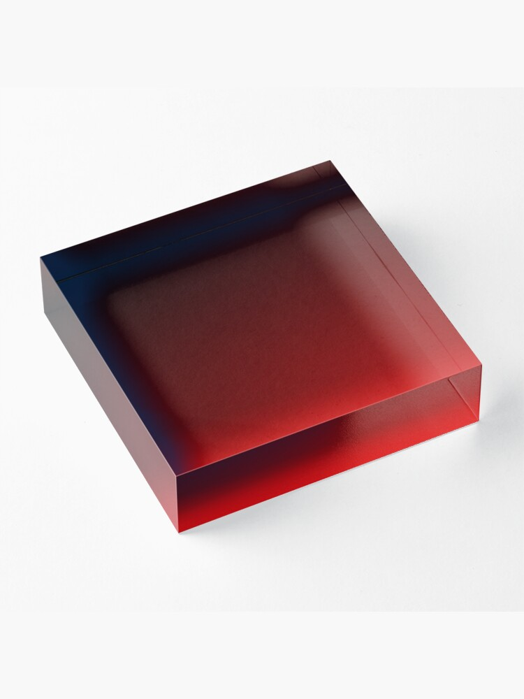 Alternate view of Red Ombre Acrylic Block