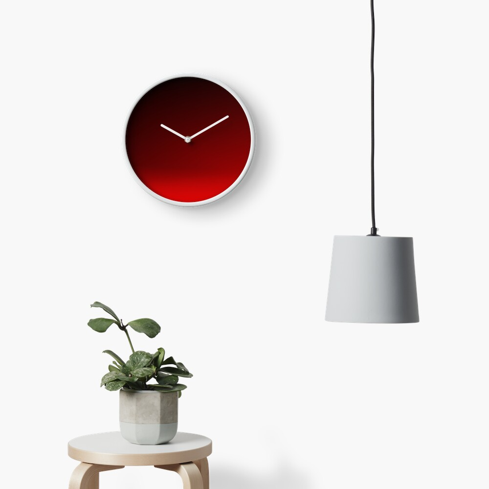 Red Ombre Clock
