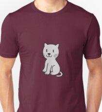 Cute Cat - gray-pattern T-Shirt