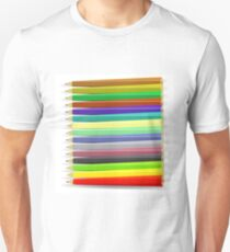 Set of Colorful Pencils Isolated on White Background T-Shirt