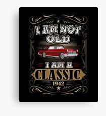 75th Birthday I'm Not Old I'm A Classic Funny Retro Canvas Print