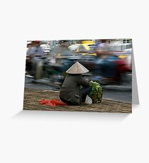 Roadside selling in Vietnam Greeting Card
