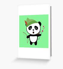 Panda valentine Archer Rozgw Greeting Card
