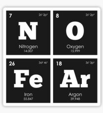 Chemistry - Periodic Table Elements: NO FeAr Sticker