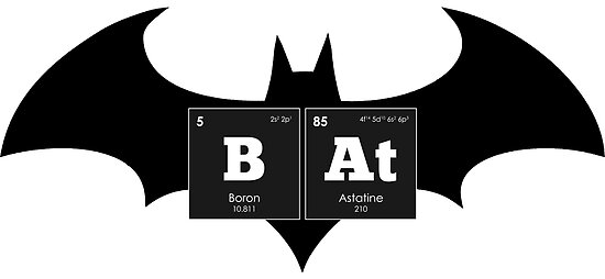 Chemistry Periodic Table Elements Bat Posters By Thisonashirt