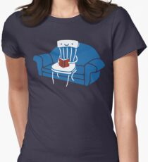 Lazy Chair Womens Fitted T-Shirt