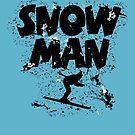 Snowman Ski Retro by theshirtshops