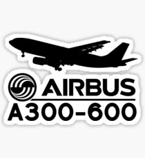 Airbus A300-600 - Silhouette (Black) Sticker