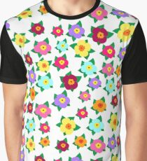 Bright, colorful, decorative, buds of flowers with leaves. Floral seamless pattern Graphic T-Shirt