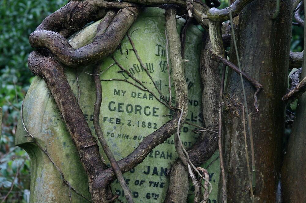 Gravestone in Highgate cemetery by Alastair Humphreys