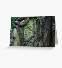 Gravestone in Highgate cemetery Greeting Card