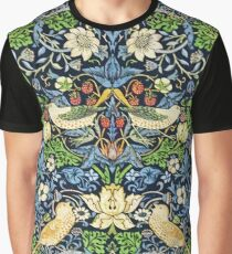 Art Nouveau Bird and Flower Tapestry Graphic T-Shirt
