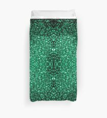 Beautiful Emerald Green glitter sparkles Duvet Cover