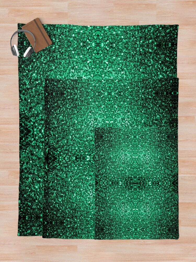 Vista alternativa de Manta Hermosos destellos de color verde esmeralda.