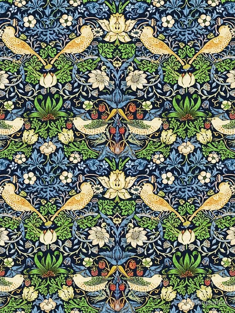 Jugendstil-Vogel und Blumen-Tapisserie von Marymarice