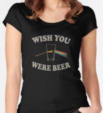 Camiseta entallada de cuello redondo Desearia que fueras cerveza