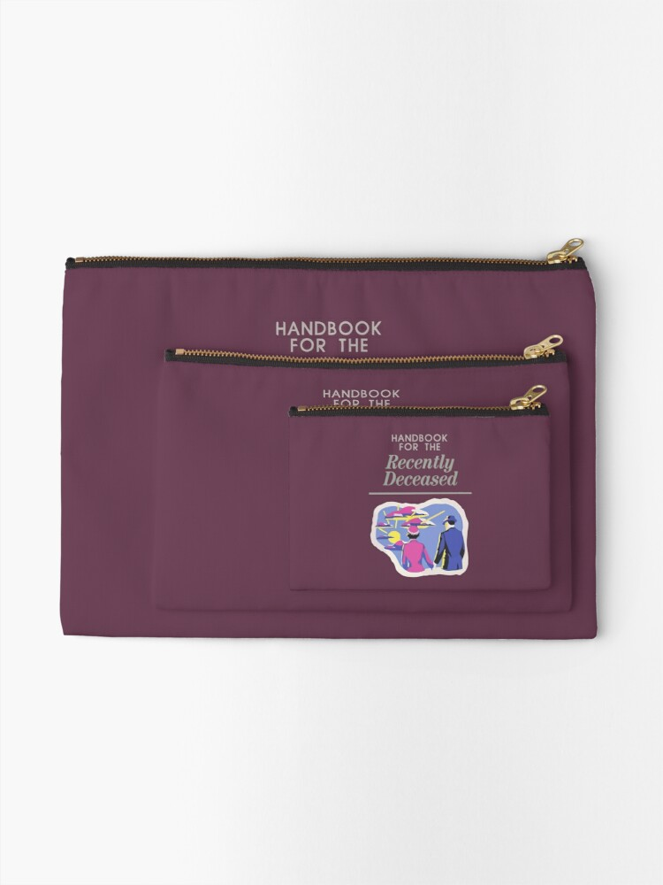 Alternate view of Handbook For The Recently Deceased Zipper Pouch