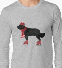 Newfoundland Dog Skating T-Shirt