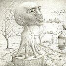 Walking head in balance  by Sebastiaan Koenen