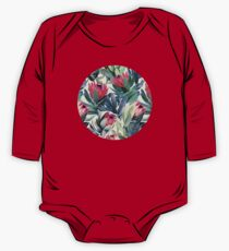 Painted Protea Pattern One Piece - Long Sleeve