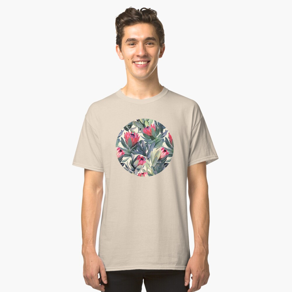 Painted Protea Pattern Classic T-Shirt Front