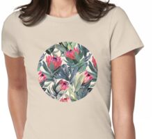 Painted Protea Pattern Womens Fitted T-Shirt