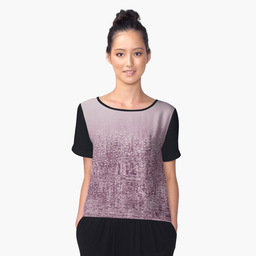 Forest Women's Chiffon Top Front