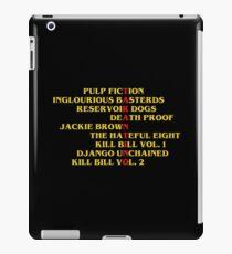 Quentin Tarantino films iPad Case/Skin