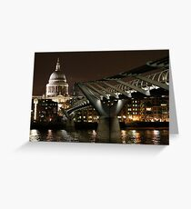 St Paul's Cathedral at night - 2 Greeting Card