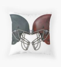 Cascos de futbol americano Throw Pillow