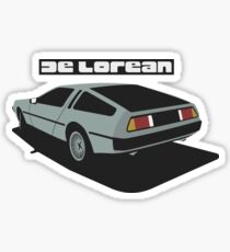 DMC De Lorean Sticker