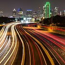 Dallas City Skyline at Night by Gregory Ballos