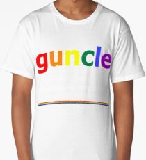 Rainbow Guncle Definition Guncle Gay Uncle LGBT Pride T-Shirt Long T-Shirt