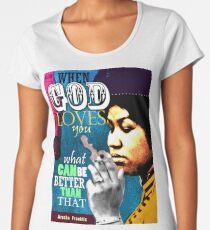 Aretha Franklin inspirierend Zitat Frauen Premium T-Shirts