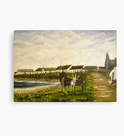 """Those were the days - Scattery Island, County Clare, Ireland"" Canvas Print"