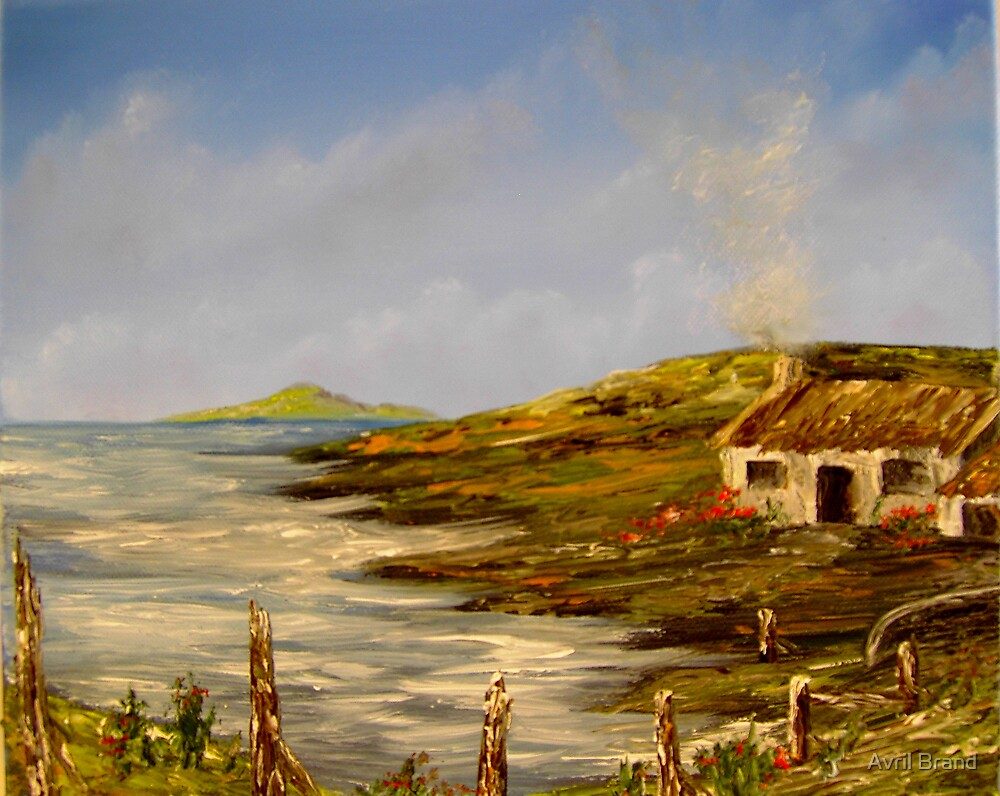 """""""Little Cottage in Ireland"""" - oil paintng by Avril Brand"""