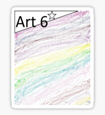 ary kids by kids 6 art Sticker