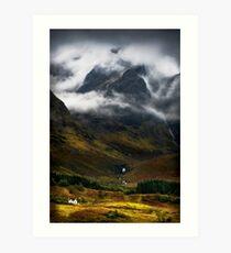 Blaven and malevolent weather. Isle of Skye, Scotland. Art Print