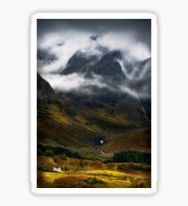 Blaven and malevolent weather. Isle of Skye, Scotland. Sticker