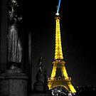 Interpretation Of The Eiffel Tower In Paris III by Al Bourassa