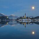 Full Moon, Lake Bled, Slovenia by Kasia Nowak