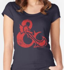 Ampersand - Dungeons & Dragons Retro Women's Fitted Scoop T-Shirt