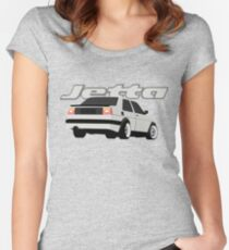 Volkswagen Jetta Mk2 Women's Fitted Scoop T-Shirt