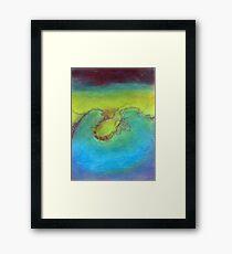 Water's landscape Framed Print