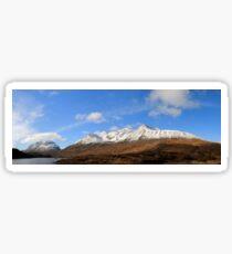Liathach, Beinn Eighe and Loch Clair in panorama Sticker