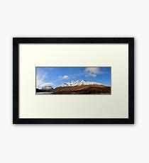 Liathach, Beinn Eighe and Loch Clair in panorama Framed Print
